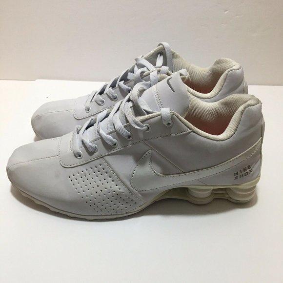 Nike Mens Shox Sneakers Shoes White Size 12